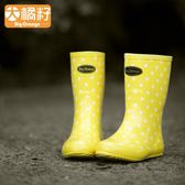 雨鞋 BigOrange女款女士時尚女成人韓國可愛中筒夏季雨鞋套鞋雨靴水鞋 野外之家