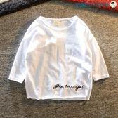 男童純棉短袖小童男圓領七分袖打底衫【洛麗的雜貨鋪】