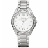 【 發燒新品】COACH 夏日繽粉晶鑽珍珠母貝面盤女錶 (14501656)