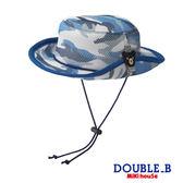 DOUBLE_B       可愛黑熊迷彩抗UV遮陽帽 (迷彩藍)