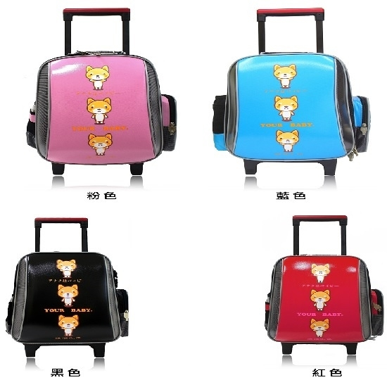【YOUR BABY優寶貝】MIT 台灣製日系柴犬造型 獨特多功能後背拉桿 鏡面拉桿書包