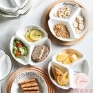 分格餐盤多格家用陶瓷餐具日式早餐三格碟子【大碼百分百】