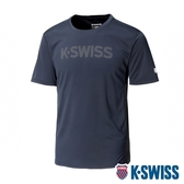 K-SWISS Mesh Logo Print Tee 排汗T恤-男-黑