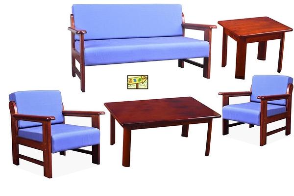 [家事達] TMT-CY-289  滿天星-布面實木 沙發組(二桌三椅)  特價