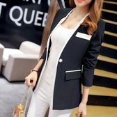 售完即止-新款正韓女裝小西裝女外套時尚氣質長袖西服上衣女8-10(庫存清出T)