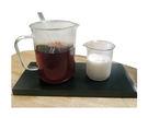 玻璃刻度燒杯組 (把手250ml+無把手50ml) 咖啡茶牛奶 餐廳居家精品科學實驗 裝飾盆栽水族分子料理