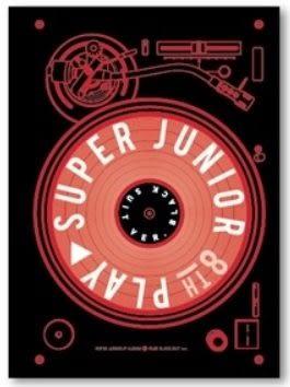 SUPER JUNIOR 第八張正規專輯 PLAY Black Suit 版 台壓版 CD (音樂影片購)