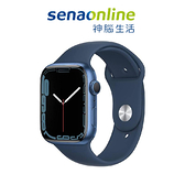 Apple Watch S7 GPS 45mm 藍色鋁金屬-深邃藍色運動型錶帶[預約賣場]