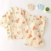 男女童日本和服純棉短袖套裝家居服兒童睡身寶寶浴身汗蒸服夏季