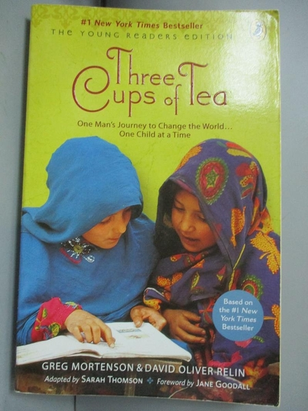 【書寶二手書T7/原文小說_LCX】Three Cups of Tea Young Readers Edition_Mo