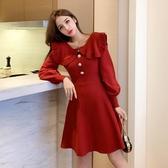 本命年紅色連衣裙女春裝新款秋冬季裙子年會女裝喜慶過 花樣年華