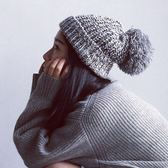 百搭針織毛線帽日繫秋冬天保暖護耳帽子女【聚寶屋】