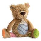 GMPBABY 法國娃娃Doudou橘綠條紋黃熊布偶 (20cm)