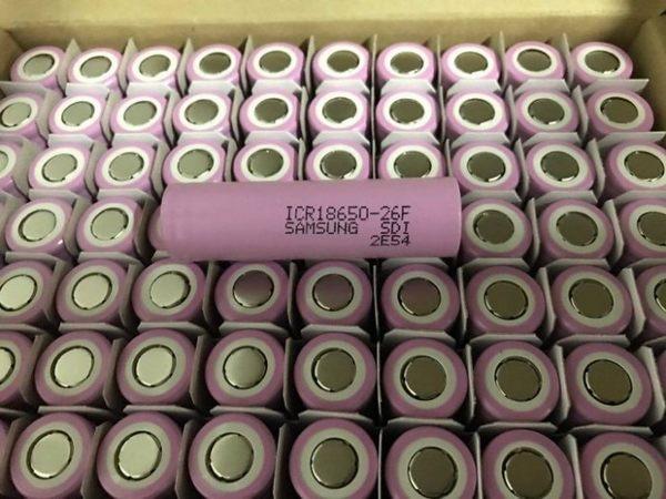 三星 18650電池 原裝 容量足2600mah 行動電源電池 風扇電池