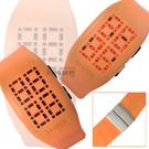【時刻表‧FOSSIL_手錶】PHILIPPE S+ARCK ‧未來數位主義腕錶_橘〈PH1057〉