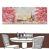 【24mama 掛畫】單聯式 油畫布 無框畫 80x30cm-日本景點油畫布無時鐘