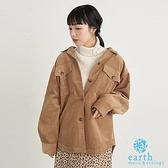 「Winter」燈芯絨口袋襯衫夾克外套 - earth music&ecology
