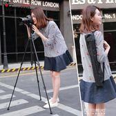 單反相機三腳架攝影攝像便攜微單三角架手機自拍直能女支架   東川崎町