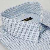 【金‧安德森】深淺藍格紋長袖襯衫