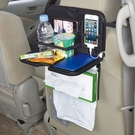 車之嚴選 cars_go 汽車用品【W796】日本 SEIWA 多功能後座餐盤飲料面紙盒架 智慧型手機架(可放2支)