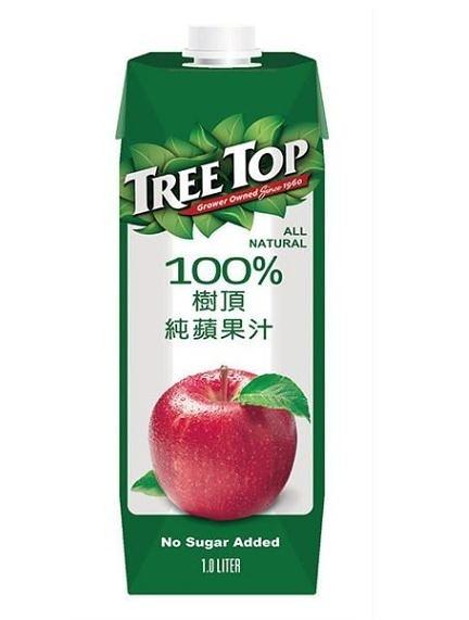 樹頂純蘋果汁1000ml/瓶*2瓶【合迷雅好物超級商城】