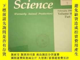 二手書博民逛書店Animal罕見Science 1995Y258306 不祥 不