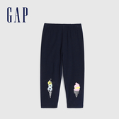 Gap 女幼童 舒適彈力鬆緊腰緊身褲 584209-冰淇淩