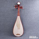 民族樂器紅木琵琶花梨木兒童成人學生練習琵琶 DR8855【彩虹之家】