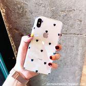 少女小愛心iPhoneXs Max XR手機殼蘋果X 7/8plus/6s藍光透明軟潮  電購3C