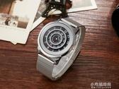 全新手錶男女情侶腕錶概念手錶石英錶手錶百搭創意個性轉盤錶小宅妮