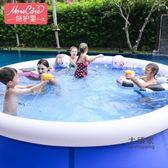 充氣泳池 兒童充氣游泳池成人超大型加厚家庭家用兒童夾網游泳室內洗澡水池