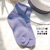 東京著衣-多色簡約百搭糖果色系長襪(181034)