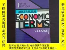二手書博民逛書店AUSTRALIAN罕見ECONOMIC TERMS澳大利亞經濟