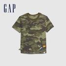 Gap男幼動物造型口袋圓領短袖T恤577629-迷彩色