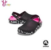 Crocs卡駱馳 洞洞鞋 成人女款 LiteRide豹紋 園丁鞋 防水布希鞋 A1732#黑桃◆OSOME奧森鞋業