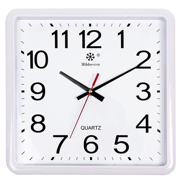 限定款掛鐘 大氣時尚掛鐘方形簡約靜音鐘錶辦公臥室客廳創意電子石英鐘錶jj