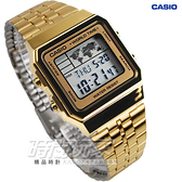 CASIO卡西歐 A500WGA-9 世界地圖 電子錶 金色 A500WGA-9DF 復古復刻 數字錶 日期 超薄 LED照明 夜光