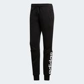 Adidas ESS LIN PANT [S97154] 女 運動 休閒 訓練 縮口 長褲 棉質 修身 愛迪達 黑