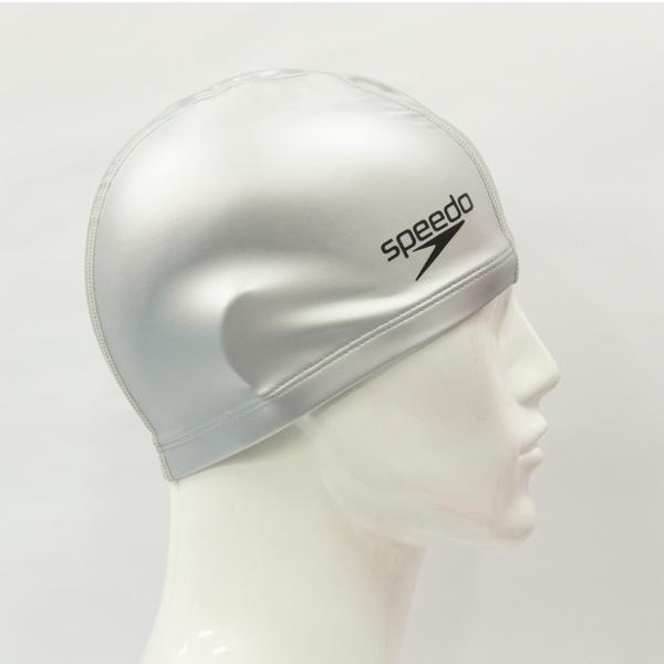 ≡Speedo≡ 成人合成泳帽 Pace 銀 - SD8720641731