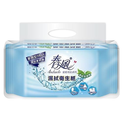 春風 濕拭衛生紙40抽*3包【愛買】