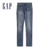 Gap男裝時尚水洗做舊破洞牛仔褲539150-深色水洗做舊