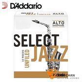 美國 Daddario Select Jazz 中音 薩克斯風竹片 3 Medium Alto Sax (10片/盒) Unfilde Cut 美式切法【RICO】