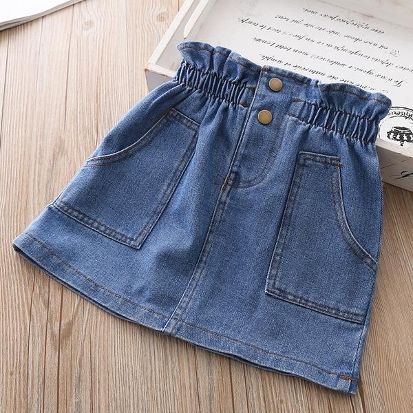 女童裙子2021春秋天兒童牛仔包臀裙夏季寶寶嬰兒小女孩半身短裙 童趣屋 618狂歡
