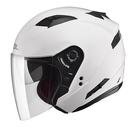 【東門城】SOL SO-7 素色(白) 半罩式安全帽 內墨鏡片