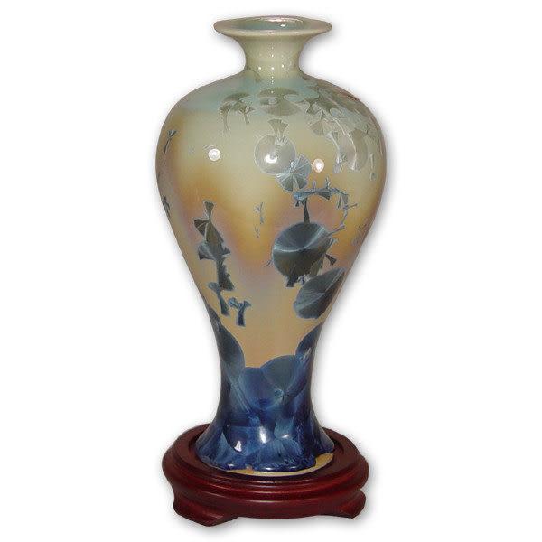 鹿港窯~居家開運結晶釉~10英吋梅瓶花瓶 購物清單:1件