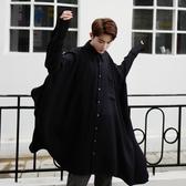 長袖襯衫-純色時尚不規則版型超寬鬆男上衣2色73po25【巴黎精品】