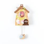 小禮堂 美樂蒂 房屋造型磁鐵 木磁鐵 冰箱磁鐵 吸鐵 (粉棕) 4711717-30730
