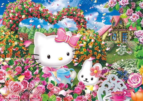 【拼圖總動員 PUZZLE STORY】玫瑰園 日本進口拼圖/Beverly/Hello Kitty/108P