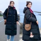 棉服 很仙的2019冬季新款韓版中長款過膝女寬鬆外套棉服學生面包服ins 3色XL-S