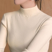 特賣高领毛衣女半高領毛衣打底衫女秋冬2020新款修身緊身黑色洋氣內搭長袖針織衫
